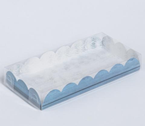 060-0117 Коробка для кондитерских изделий с PVC-крышкой «Вкусно», 21 × 10,5 × 3 см