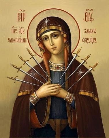 Алмазная Мозаика 28x22 Икона Божией Матери