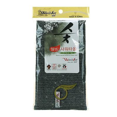 Мочалка для тела с углем Natural Charcoal Wellbeing Shower Towel, WEAVER 1 ш