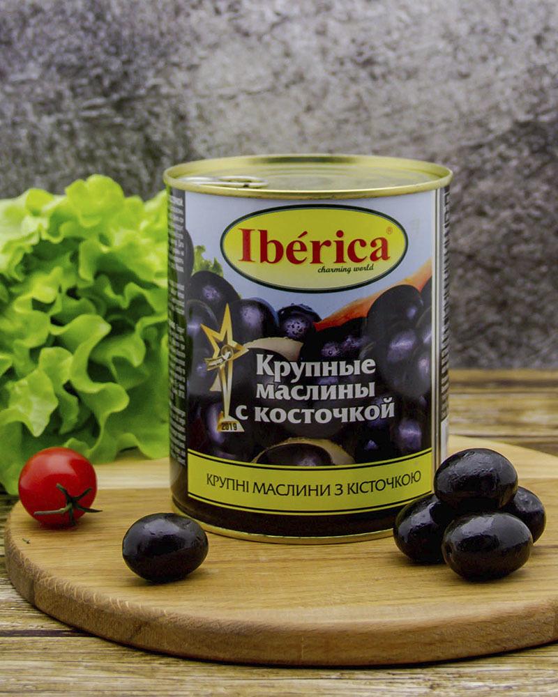 Маслины Iberica Гигантские (Крупные) с Косточкой 875 гр.
