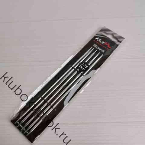 Спицы чулочные Knit Pro Nova Metal  15 см, № 2,75