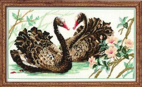 Набор для вышивания крестом «Черные лебеди» (806)