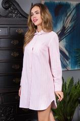 Розовая рубашка женская