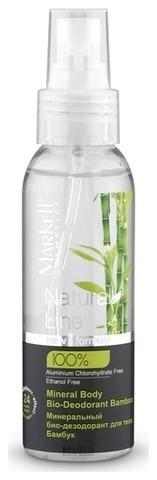 Markell Natural Line Минеральный био-дезодорант для тела бамбук 100мл