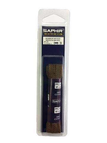 Шнурки Плоские 60 см, ширина 8 мм,(5 цветов)   Saphir
