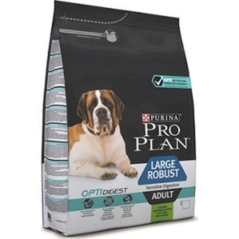 Pro Plan Optidigest Adult Large Robust сухой корм для крупных с собак с мощным телосложением с чувствительным пищеварением с ягненком