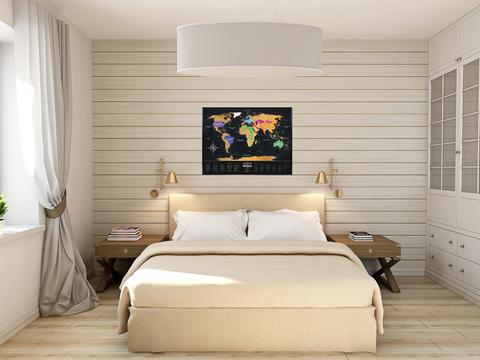 Скретч карта мира Travel Map Black World 1DEA.ME