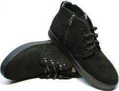 Ботинки зимние мужские черные Ikoc 1617-1 WBN.