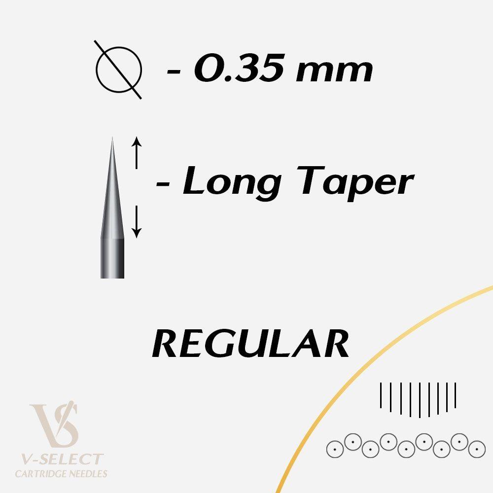 Картридж для тату V-Select EZ VC-1205M1C-1 (5 Curved Magnum 0.35)