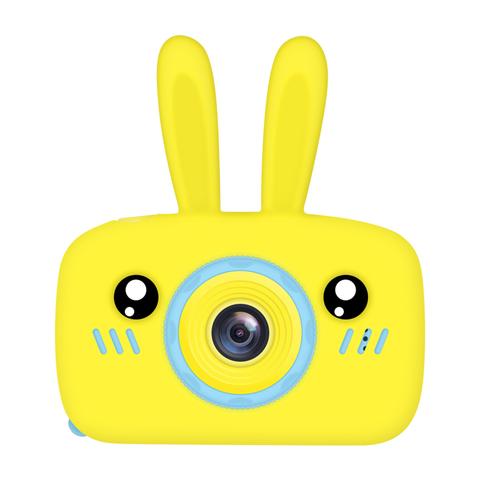 Фотоаппарат детский SmileZoom Зайчик с селфи-камерой / Желтый
