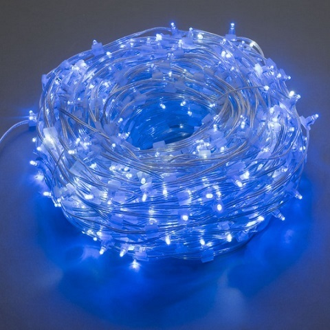 Светодиодный клип лайт Синий, 12V, без колпачка, Мерцающий