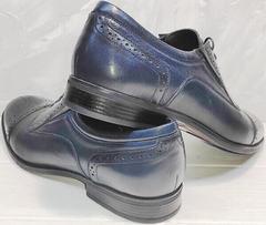 Осенние туфли мужские кожаные Ikoc 3805-4 Ash Blue Leather.