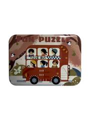 Развивающие пазлы в жестяной коробке Забавная головоломка FUN PUZZLE набор Экскурсия 39 элементов, 5 пазлов