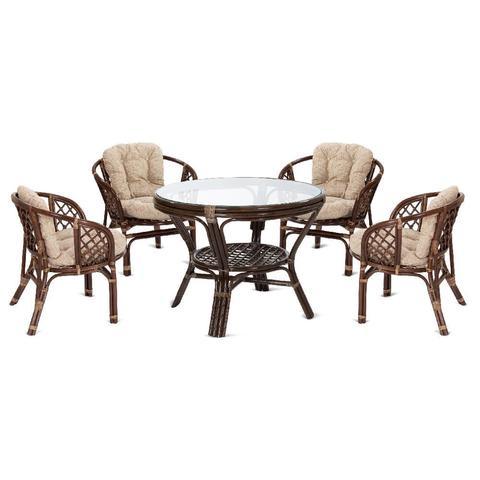 Комплект обеденный, стол 22/02 Б и 4 кресла 03/10B Б