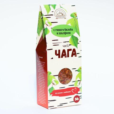 Чага-чай Березовый с гинкго-билоба и шалфеем, 50г (Хелпер Мед)