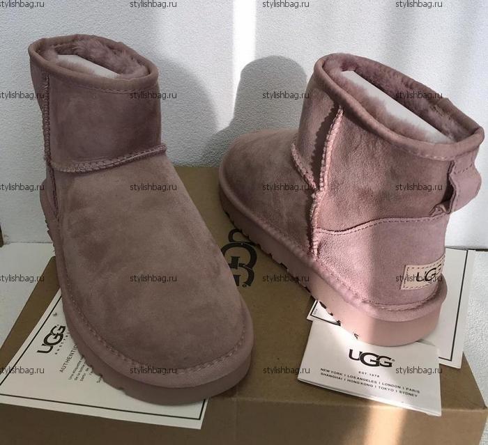 Женские розовые угги UGG Classic Mini Pink