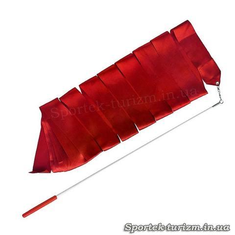 Красная лента для художественной гимнастики (3 м, палочка 60 см)