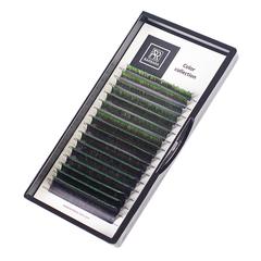 Омбре ресницы BARBARA (зеленые №2) МИКС