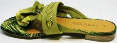 Открытые женские босоножки вьетнамки красивые Marco Tozzi 2-27104-20 Green.