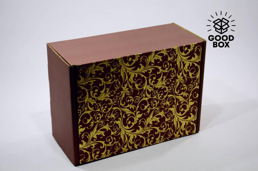 Подарочная коричневая шкатулка купить в Казахстане