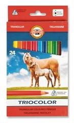 Карандаши цветные TRIOCOLOR 3144, 24 цвета
