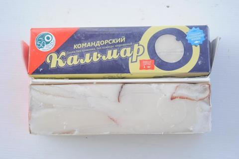 Филе кальмара командорского, Дальний Восток 1кг (шт)