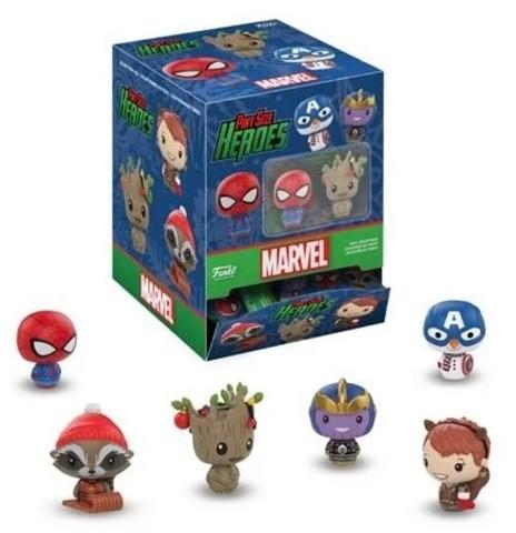 Случайная фигурка новогодних супергероев Марвел || Funko Pint Size: Marvel Holiday
