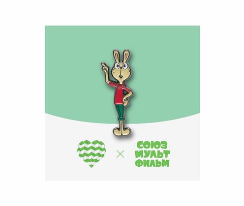 Значок металлический Союзмультфильм Кролик из Винни Пуха