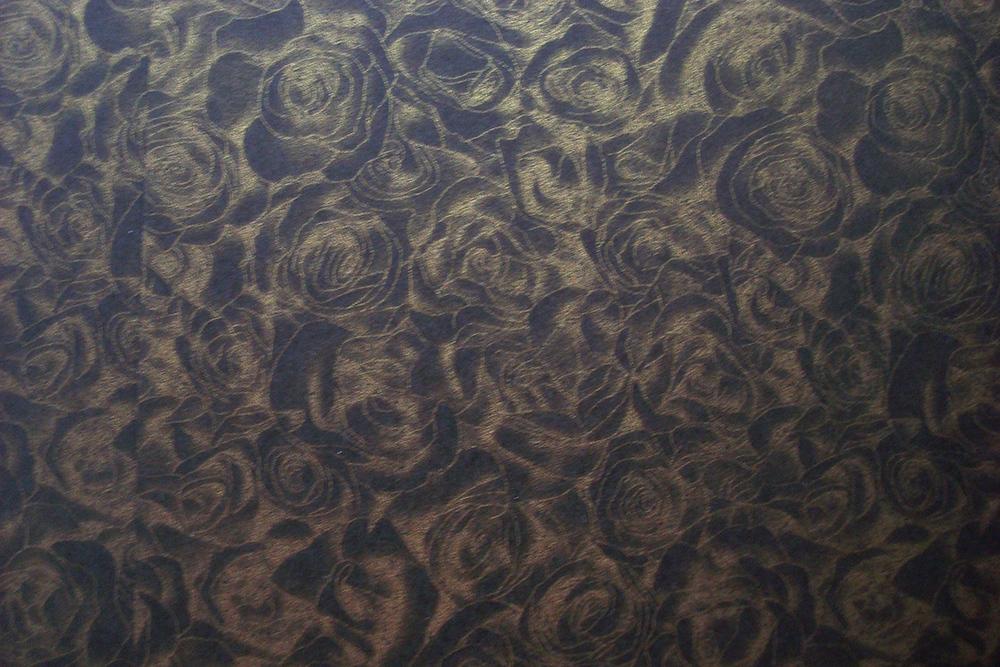 Дизайнерская бумага «Розы» 300 гр, черный