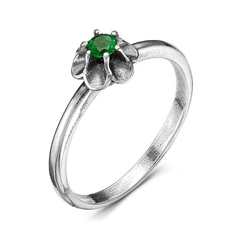 Кольцо с шпинелью и серебрением