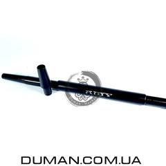 Комплект силиконовый шланг Soft-touch и алюминиевый мундштук AMY DeLuxe черный для кальяна