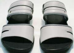 Кожаные шлепанцы пляжные мужские Ikoc 3294-3 Gray.