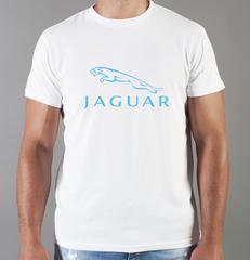 Футболка с принтом Ягуар (Jaguar) белая 005