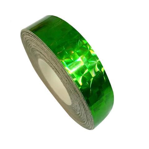 Скотч голографический 12мм* 15м (зеленый)