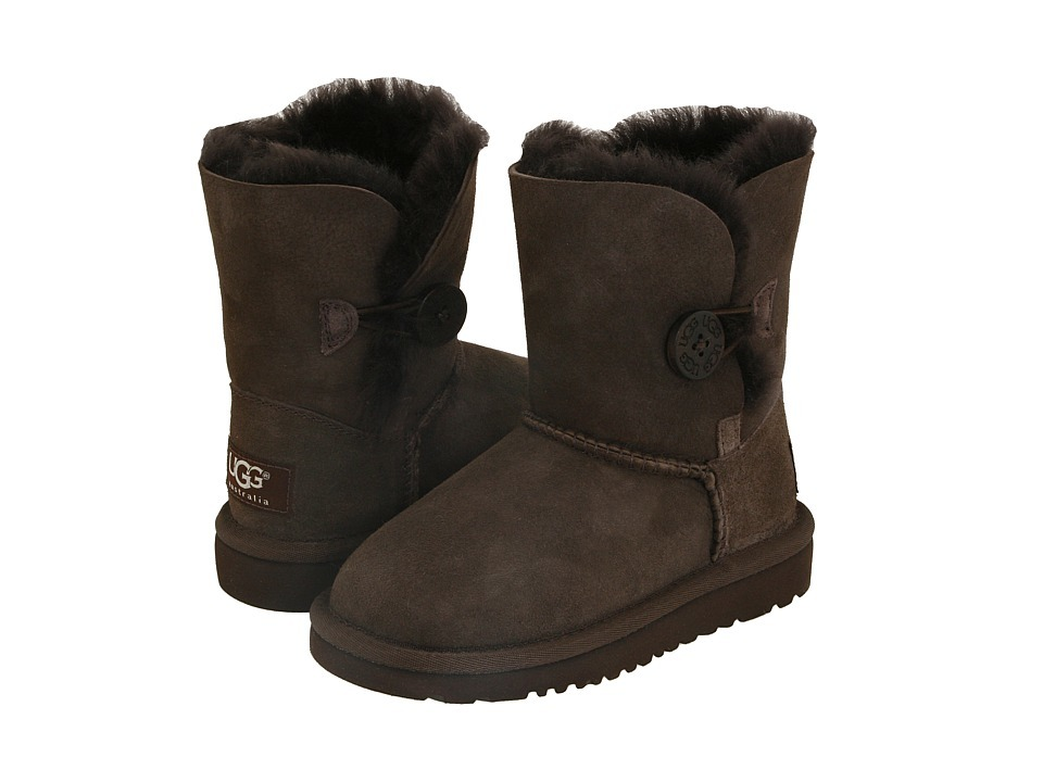 Детские угги UGG Australia Bailey Button Chocolate