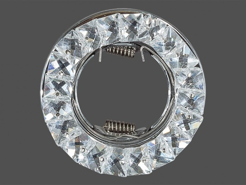 Встраиваемый светильник D3234-WH+CH Белый+Хром