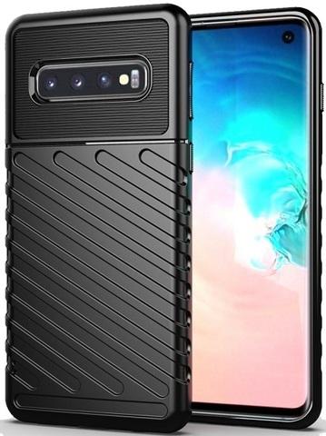 Чехол для Samsung Galaxy S 10 цвет Black (черный), серия Onyx от Caseport