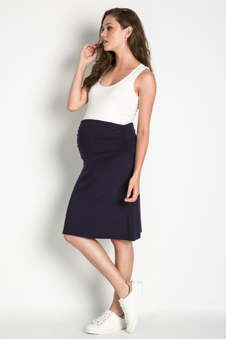 Юбка для беременных 08454 синий