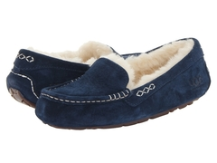 UGG Moccasins Ansley for Women Navy (с мехом)