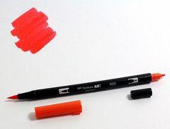 Маркер-кисть Tombow ABT Dual Brush Pen-905, красный