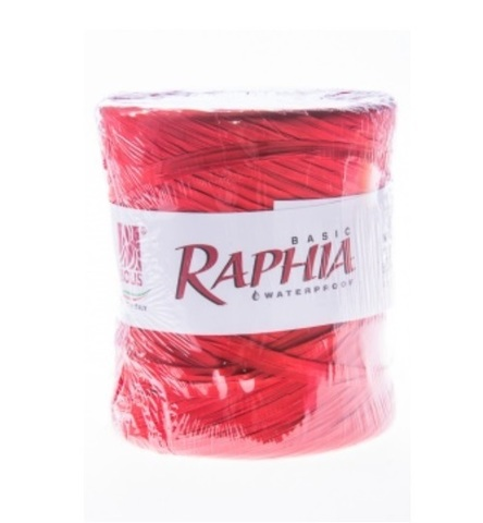 Рафия искусственная Италия 200 м Цвет: красный