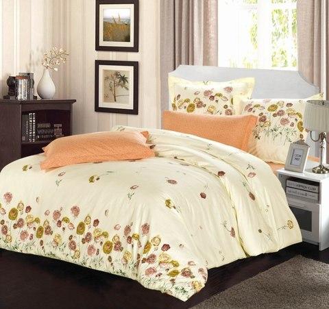 Сатиновое постельное бельё  2 спальное  В-158