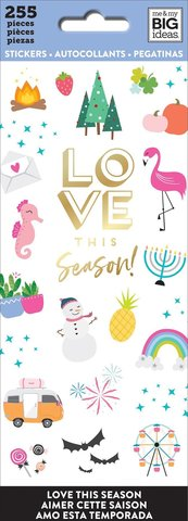 Блокнот со стикерами-Happy Planner Sticker Sheets- Love This Season, 255 шт