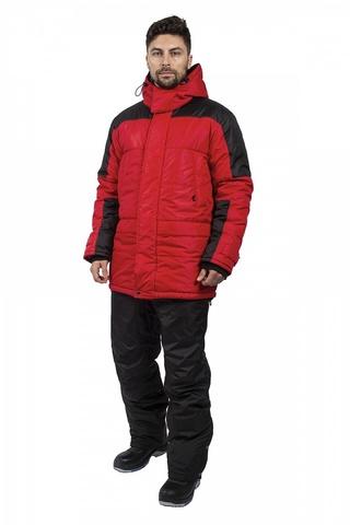 Куртка Европа зимняя , красный/черный тк.Дюспо