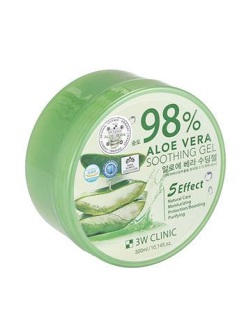 3W Clinic Гель для тела с алое Aloe Soothing Gel 300 мл.
