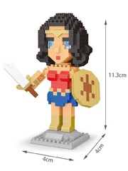 Конструктор Wisehawk & LNO Чудо-женщина 360 деталей NO. 2571 Wonder Woman Gift Series