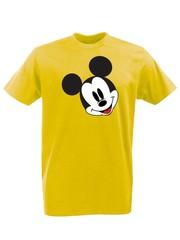 Футболка с принтом Микки Маус (Mickey Mouse) желтая 002
