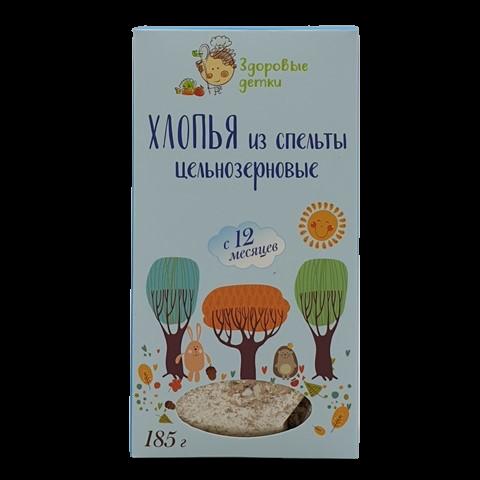 Хлопья из спельты  с 12 месяцев ОРГТИУМ, 185 гр