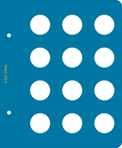Лист Ø31 мм для альбома «Памятные монеты Республики Казахстан из недрагоценных металлов»