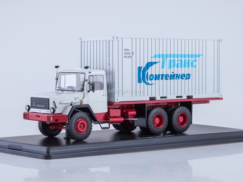 Magirus 290D container white-red 1:43 Start Scale Models (SSM)